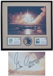 Gene Cernan Signed 19.5 x 16 Photo of the Apollo 17 Night Launch