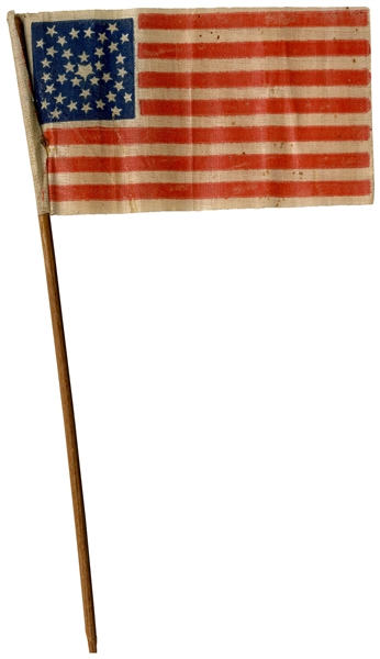 36-Star Flag After Nevada Joined the Union -- Circa 1865