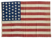 Lakota Territories 39-Star Flag, Circa 1889 -- Measures 24.25 x 17.5