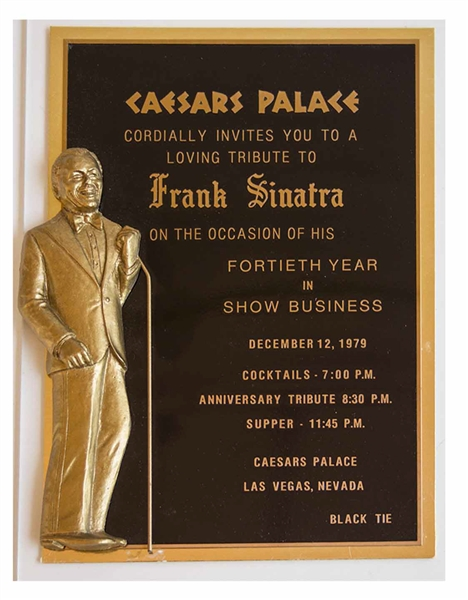 Frank Sinatra Custom Invitation to Celebrate His ''Fortieth Year in Show Business''