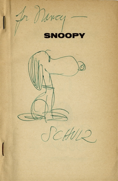 Charles Schulz Hand-Drawn Sketch of Snoopy in ''A New Peanuts Book Featuring Snoopy''