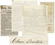 Emotional Clara Barton Autograph Letter Signed, Regarding Missing Soldiers -- ...This Officer with his undeserved rank, his manners, his tricks, his falsehoods, his forgeries and his crimes...