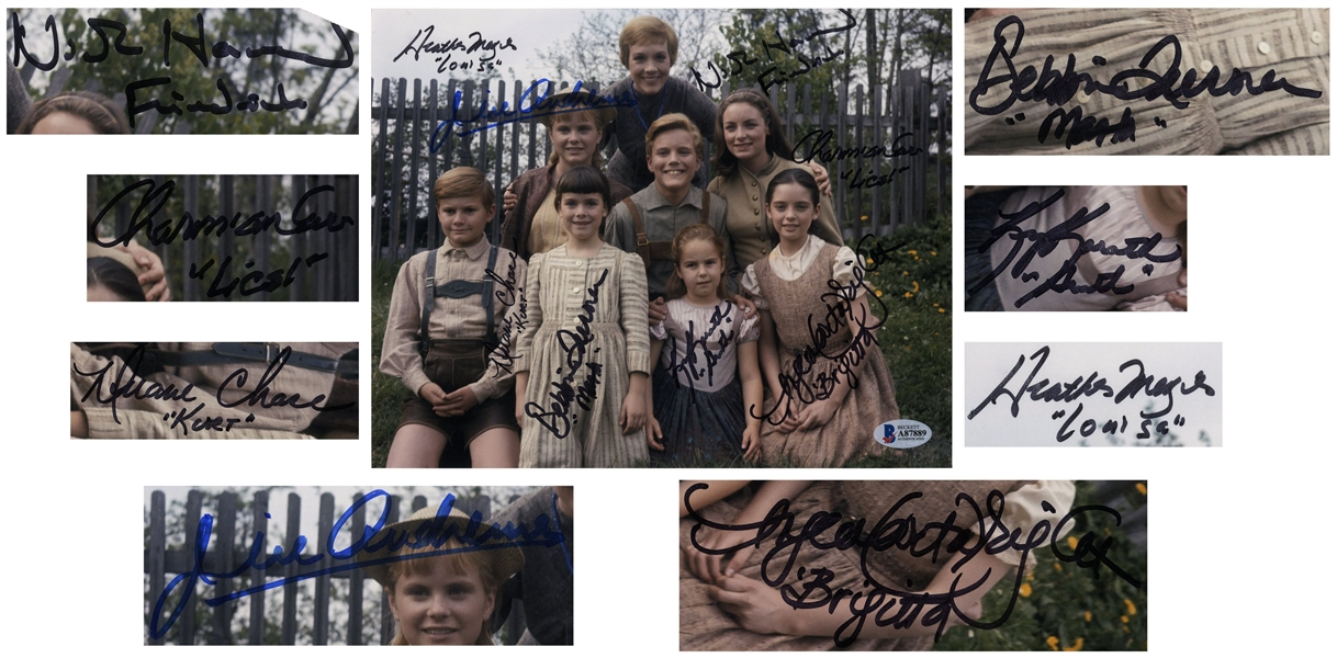 Julie Andrews and ''Sound of Music'' Cast-Signed Photo -- With Beckett's COA