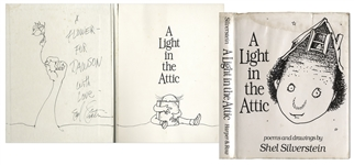 Shel Silverstein Signed First Edition of A Light in the Attic, With Elaborate Hand-Drawn Sketch