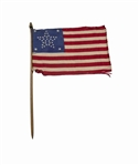 Large 37-Star Parade Flag After Nebraska Joined the Union -- Silk Flag Measures 11.5 x 7.5