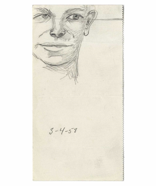 Dwight D. Eisenhower Self-Portrait Sketch, Drawn While President