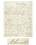 Superb Abraham Lincoln Autograph Letter Signed as President, Regarding Possible War Profiteering During the Civil War -- ...I expected that when...the price of a...gun was fixed, it would stand...