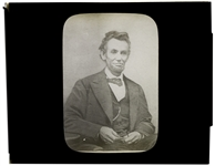 Abraham Lincoln Magic Lantern Slide -- From Lincolns Last Photo Session in February 1865