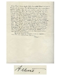 Albert Einstein Autograph Letter Signed in 1946 Regarding His Sisters Stroke -- ...the immense patience and empathy with which you have sweetened for her these years of being exiled...