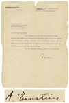 Albert Einstein Letter Signed to Composer Walter Kaufmann -- ...You know how highly I esteem your artistic competencies...