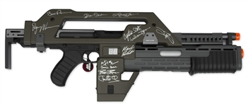 Aliens Cast Signed M41A Pulse Rifle -- Signed by 12 Key Cast Members Including Sigourney Weaver and Bill Paxton
