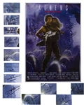 Aliens Cast Signed 27 x 40 Movie Poster