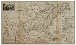 Americas Map Published in 1720 by London Cartographer Herman Moll -- Measures 25 x 40.75