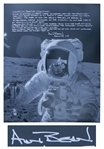 Alan Bean 16 x 20 Signed Photo, With His Personal Story on How He Collected Pristine Moon Dust