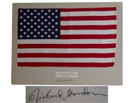 Apollo 12 Flown United States Flag, One of the Largest Apollo Flown Flags at 18 x 11.5 -- From the Collection of Richard Gordon Who States That the Flag Landed on the Lunar Surface
