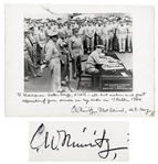 Admiral Chester Nimitz 12 x 9 Signed Photo of the Japanese Surrender