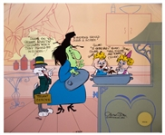 Chuck Jones Signed Limited Edition Hand-Painted Cel of Bugs and Witch Hazel
