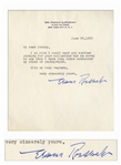 Eleanor Roosevelt Letter Signed From 1962 When She Served as Chair of the Presidential Commission on the Status of Women Under John F. Kennedy
