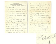 Franklin D. Roosevelt Autograph Letter Signed to Helena Mahoney, His Warm Springs Physical Therapist -- ...The Doctor writes you will be back to over 20 patients before the end of the month...