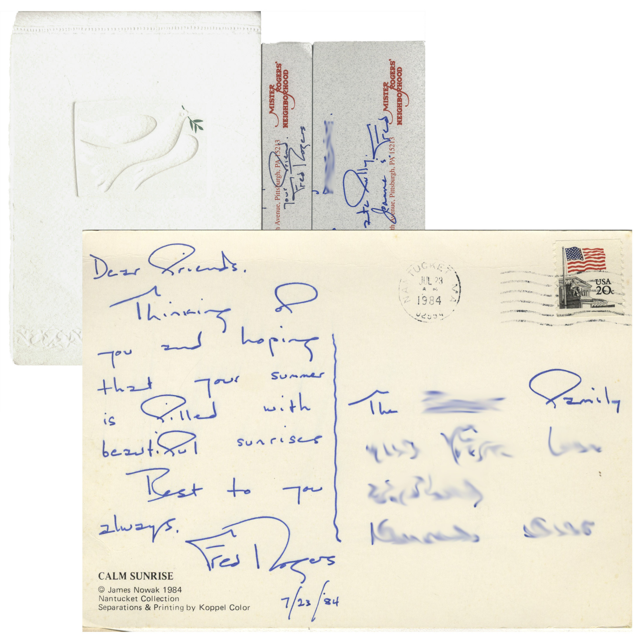 Lot Detail Fred Rogers Of Mister Rogers Neighborhood Lot Of 17 Autograph Letters Signed With Many On Stationery From The Show