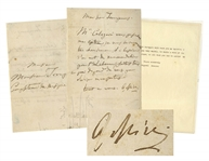 Gioachino Rossini Autograph Letter Signed -- ...do all that you can to assist my protege...