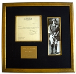 George S. Patton WWII Letter Signed Two Days After He Was Promoted to General