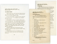 Press Kit From the John F. Kennedy Texas Welcome Dinner the Night of His Assassination
