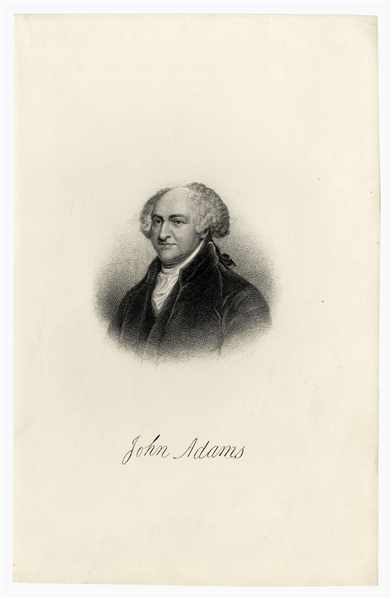 John Adams Autograph Letter Signed on the Stamp Act -- Adams Gives Documents and ''broken hints'' to Jedidiah Morse for ''Annals of the American Revolution'', on Events ''Five and Forty years ago''