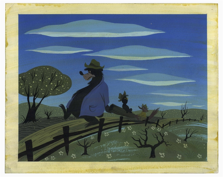 Disney Original Concept Painting From 1946 for ''Song of the South'' by Mary Blair -- Measures 13.5'' x 11''