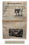 The New York Times From 22 July 1969, the Day After Apollo 11 Leaves the Moon -- 2 Astronauts Lift off Moon