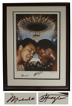 Muhammad Ali & Joe Frazier Dual-Signed Large 22.5 x 30.5 Photo of the Fight of the Century -- Limited Edition With Steiner COA