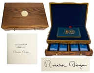 Ronald Reagan Signed Speaking My Mind Special Limited Edition -- Housed in Luxury Oak Case