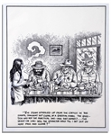 Robert Crumb Original Illustration for The Monkey Wrench Gang -- Measures 10.5 x 12.75
