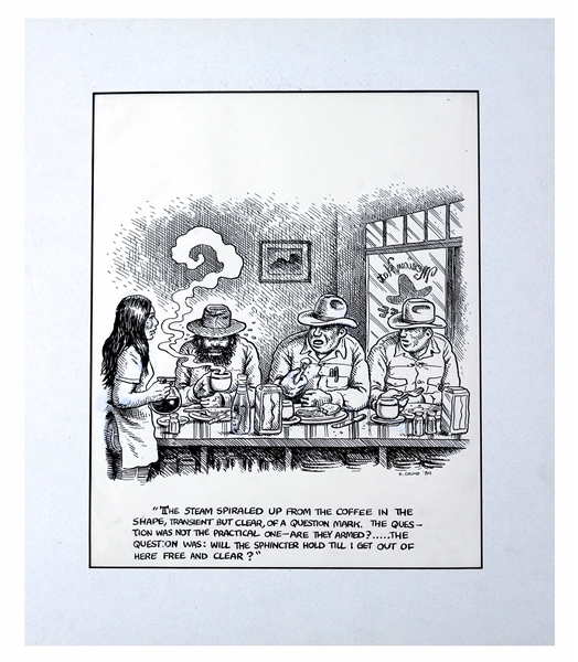 Robert Crumb Original Illustration for ''The Monkey Wrench Gang'' -- Measures 10.5'' x 12.75''