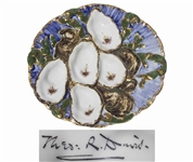 Rutherford B. Hayes White House Oyster Plate -- Unique, Colorful Design