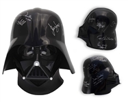 Star Wars Cast-Signed Darth Vader Helmet -- Signed by All Stars of Star Wars and The Empire Strikes Back, Including Carrie Fisher, Harrison Ford and Mark Hamill