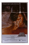 Star Wars Cast-Signed Movie Poster -- Signed by Mark Hamill, Carrie Fisher, Harrison Ford, and Darth Vader, C-3PO and Chewbaccas Characters
