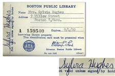 Sylvia Plaths Signed Library Card