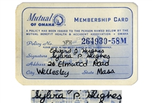 Sylvia Plath Signed Health Insurance Card