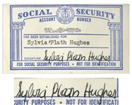 Sylvia Plaths Signed Social Security Card