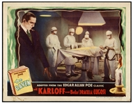 Edgar Allan Poes The Raven Lobby Card from Universals Classic 1935 Film Starring Boris Karloff & Bela Lugosi