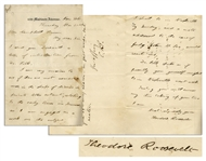 Theodore Roosevelt Autograph Letter Signed -- ...I am very anxious to see if there are not some old...diaries or private letters extant, relating to the early times in Tennessee...