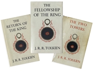 First Edition Set of J.R.R. Tolkiens Lord of the Rings -- A Complete Second Impression Set in Their Original Dust Jackets, With Maps Present
