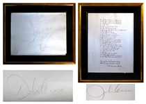 Two John Lennon Signed Lithographs From Bag One Released in 1970 -- Includes Alphabet Limited Edition #12 of 300, and Erotic #7 Limited Edition #117 of 300