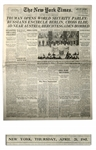 WWII The New York Times Newspaper From 26 April 1945 -- Reporting Final Overthrow of The Reich & Establishment of the United Nations