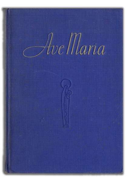 Walt Disney Signed Copy of ''Ave Maria'' From ''Fantasia''