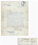 William Taft Letter Signed as President, About the Supreme Court -- ...I can not appoint anybody because he is a Jew; and I certainly shall not decline to appoint anybody because he is a Jew...