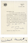 Winston Churchill Letter Signed as Prime Minister With Additional Autograph Note -- Churchill Pens a Humorous Letter Referring to the 30,000 Letters He Received on His Birthday