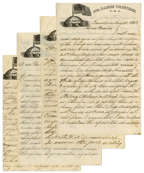 Civil War Letter Archive by a 107th Illinois Corporal -- ''...They came near drawing us into as nice a trap as was ever set to catch human flesh...they fled...leaving all their killed & wounded...''