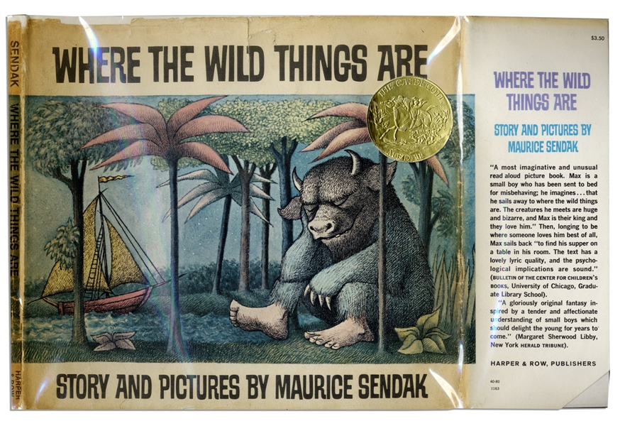 ''Where the Wild Things Are'' by Maurice Sendak -- 1963 Children's Classic in Near Fine Condition
